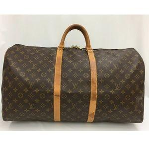 ♥️Auth LOUIS VUITTON Monogram Keepall55 Travel Bag